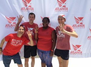 Bob, Jay, Jay and myself as the 4 who showed up to all of the GRD group runs. Photo credit: Atlanta Track Club