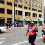 Woman in race