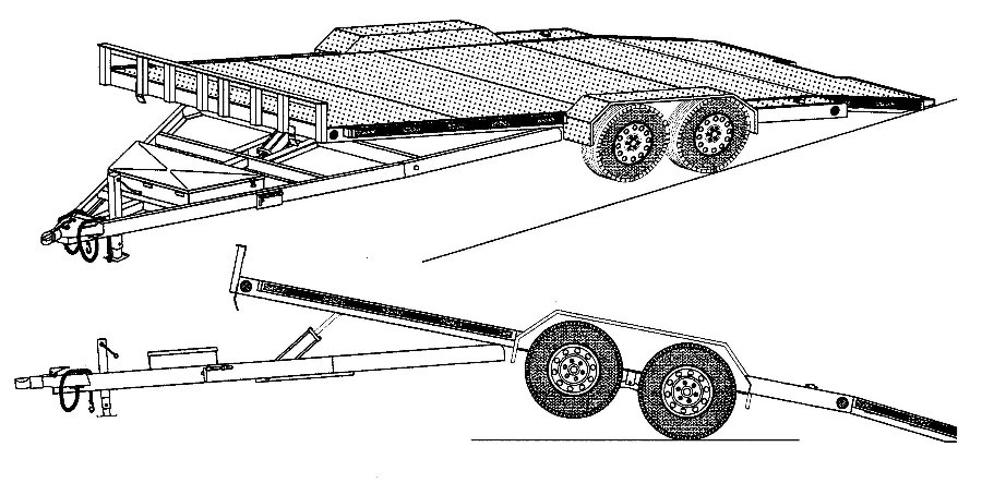 HYDRAULIC TILT CAR HAULER TRAILER PLANS 82