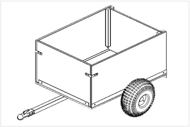 (104) 3' x 4' OFF-ROAD UTILITY CART TRAILER PLANS