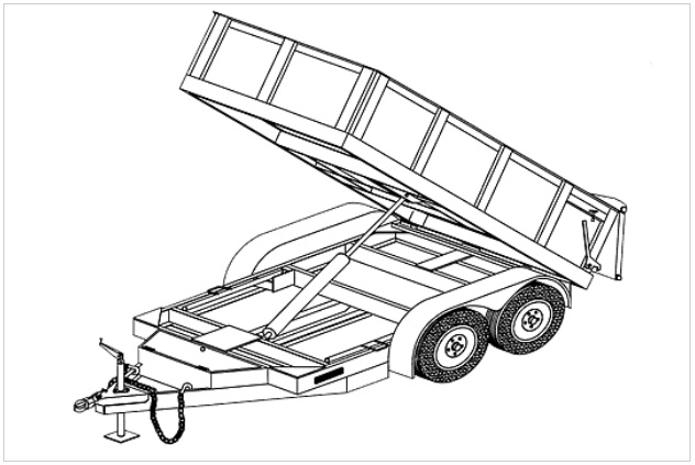 (10HD) 5' x 10' HYDRAULIC DUMP TRAILER PLANS