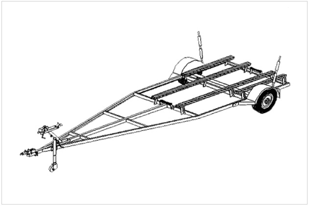 (16FB) BOAT TRAILER PLANS (VARIABLE LENGTH)