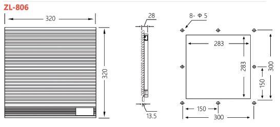 Newest Hot Sale Fan Unit Filter /Industrial Panel Air
