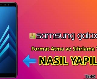 Samsung Galaxy A8+Format Atma Sıfırlama Yöntemi
