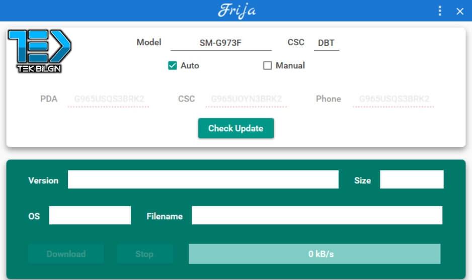 Frija Uygulaması - En Son Samsung Firmware Dosyalarını indir 15