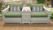 Tk Classics Fairmont 3 Piece Outdoor Wicker Patio