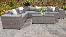 Florence 9 Piece Outdoor Wicker Patio Furniture Set 09b