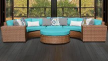 Laguna 6 Piece Outdoor Wicker Patio Furniture Set 06c