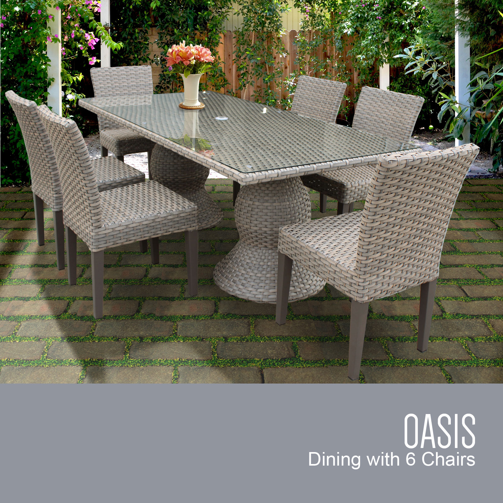 patio chair glides rectangular canada high cover replacement graco tk classics oasis outdoor dining
