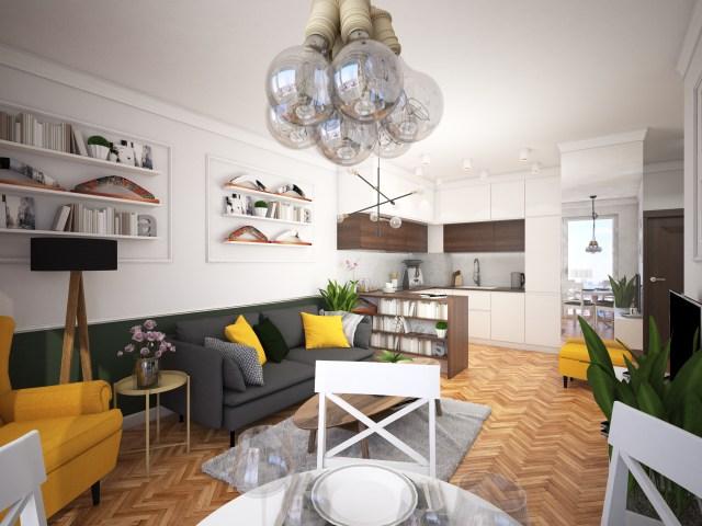 5 1 1440x1080 - Warszawa   projekt mieszkania na wynajem
