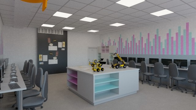 INFO1 2 - British School Warsaw |  projekt sali informatycznej