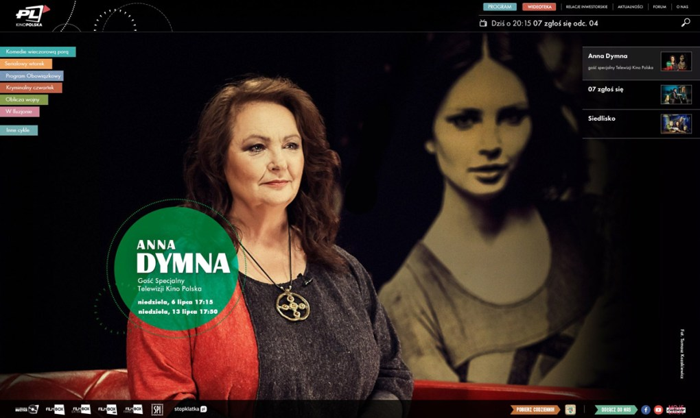 Anna Dymna for Kino Polska