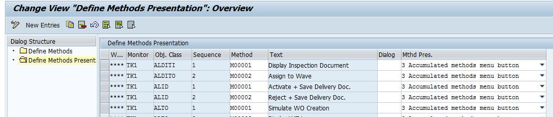 SAP EWM methods