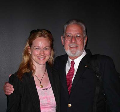 Laura Linney and Don Wilmeth, TLA Awards Ceremony, 2004 (Photo: BROADSIDE)
