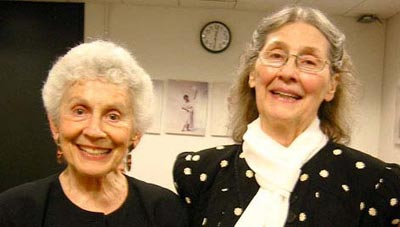 Phyllis Klotman and Madeline Matz, TLA Awards Ceremony, 2006 (Photo: Devyn Summy)