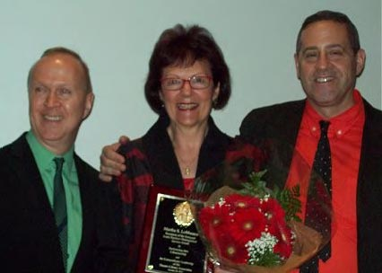 Kevin Winkler, Marti LoMonaco, and Kenneth Schlesinger, TLA Awards Ceremony, 2013 (Photo: Angela Weaver)