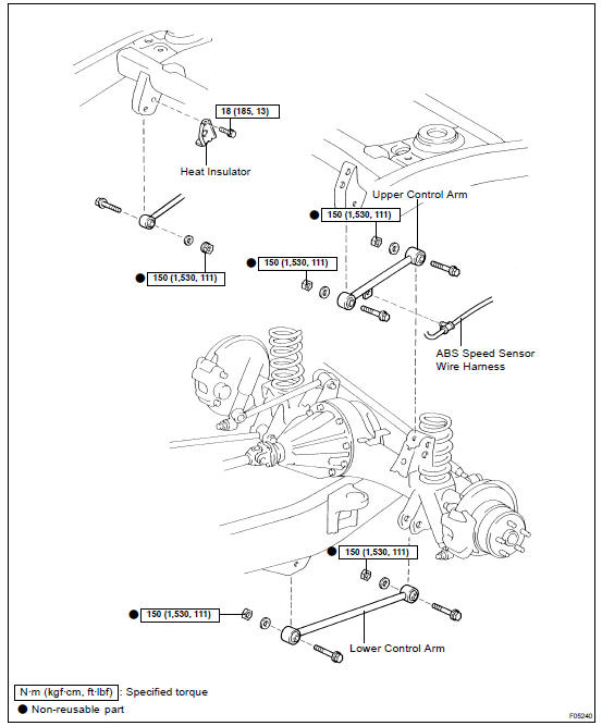 Toyota Land Cruiser: Rear upper and lower control ARM