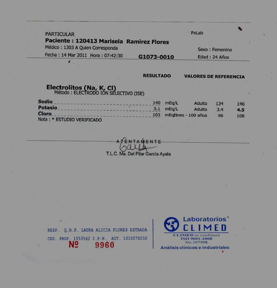 Niveles de electrolitos en sangre antes y despus de una sesin de temazcal estudio de un caso Tlahui  Medic No 32 II2011