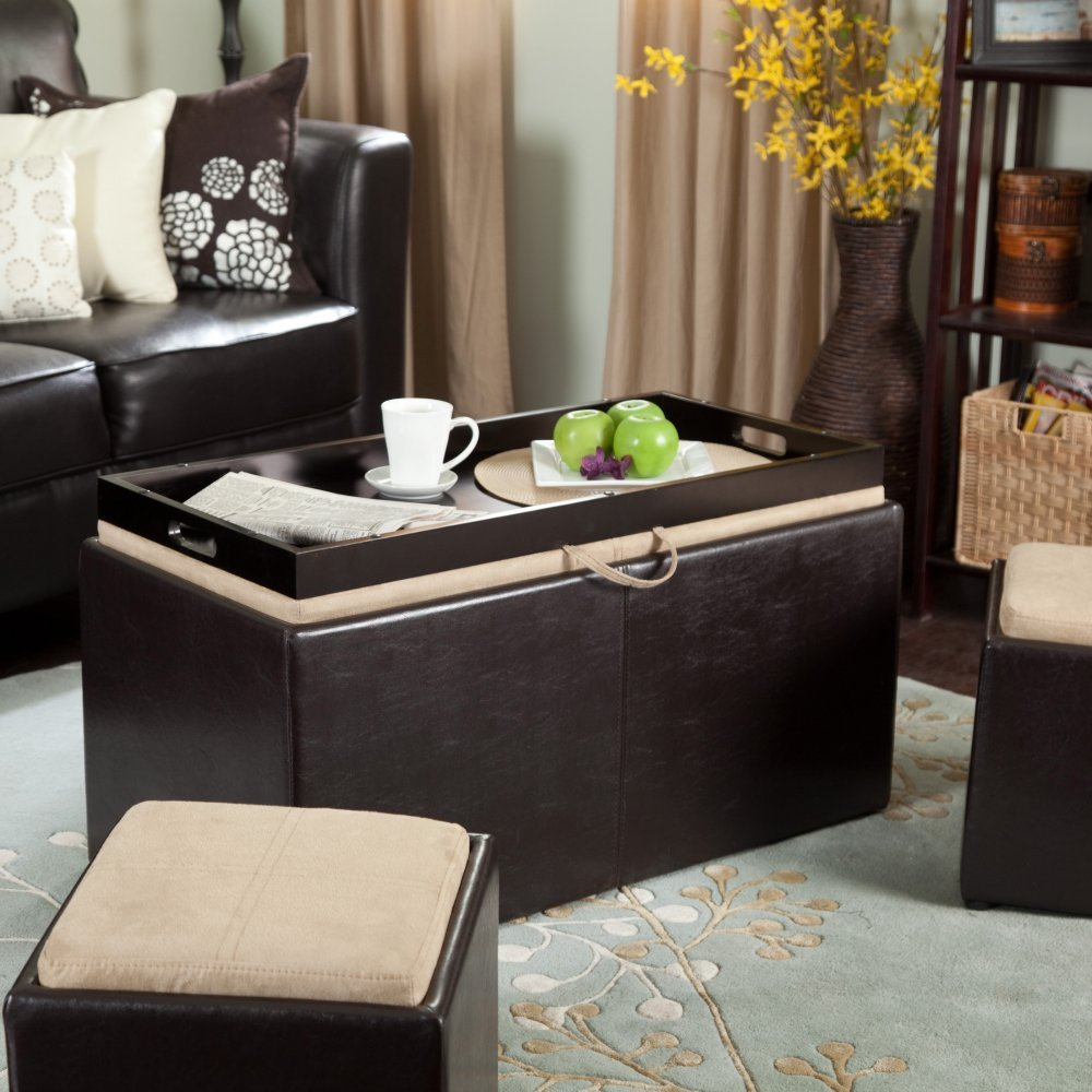Storage Table Coffee Ottoman