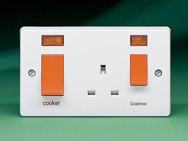 electric cooker switch wiring diagram chimpanzee skull socket toyskids co 45 amp control unit c w neon light