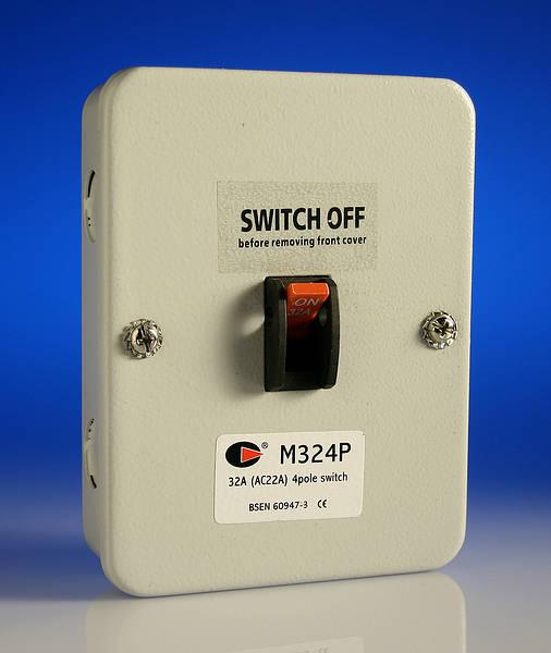 32 Amp 4 Pole Isolator Switch