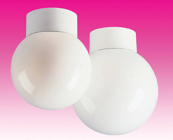 100w ES Opal Glass Sphere Light Fitting