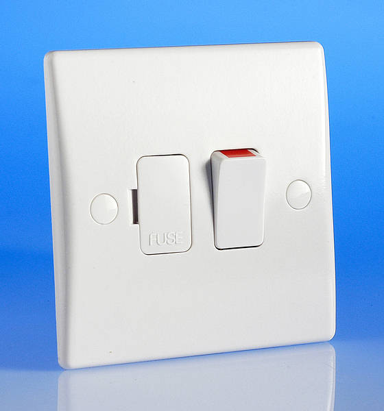 13 Amp Switched Fused Spur White