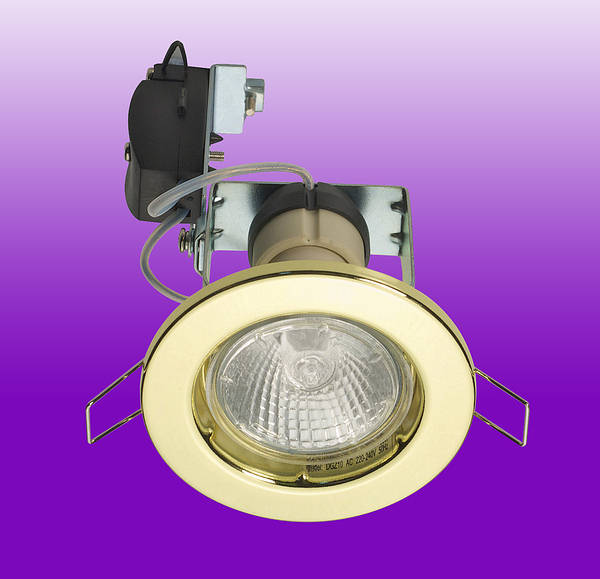 240v 50w Gu10 Halogen Downlight Brass