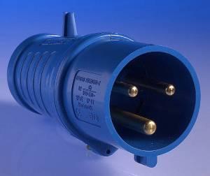 240v 32 Amp 3 Pin Plug  Blue