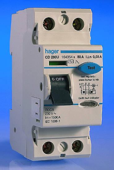 100 Fuse Box Diagram 80 Amp 30ma Rcd 2 Pole Hager