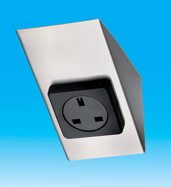 13 Amp 1 Gang Worktop  Under Cabinet Socket