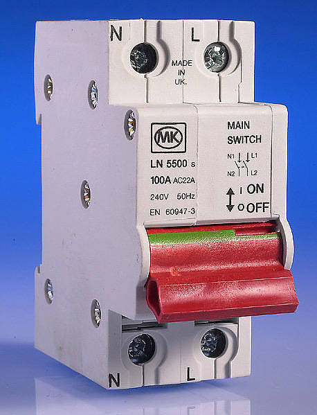 Fuse Fuse Box 100 Amp Main Switch For Sentry Consumer Unit