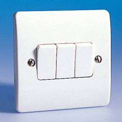 3 Gang Light Switch Wiring Diagram Uk 300zx 2 Way - White