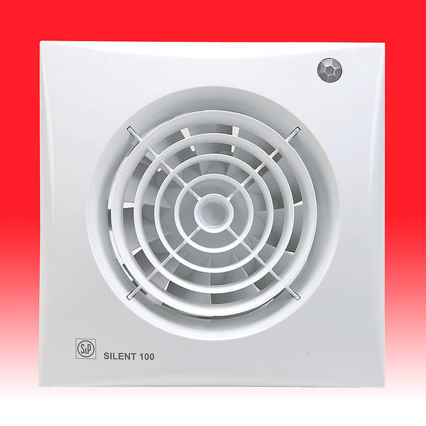 Silent 100 CDZ Extractor Fan with Shutter  PIR