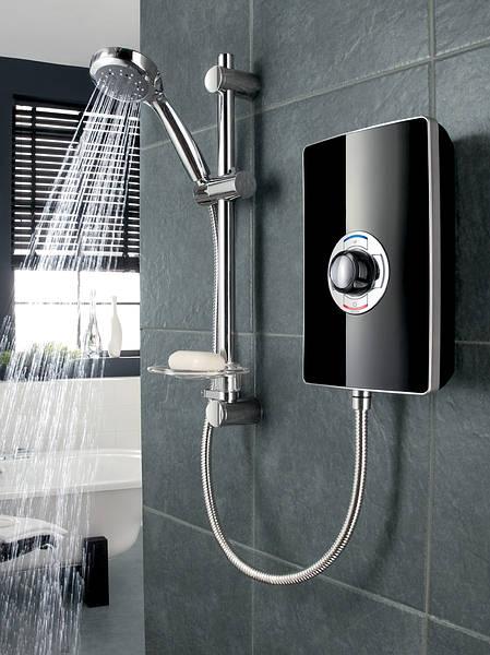 Triton Aspirante 95kw Electric Shower  Black Gloss