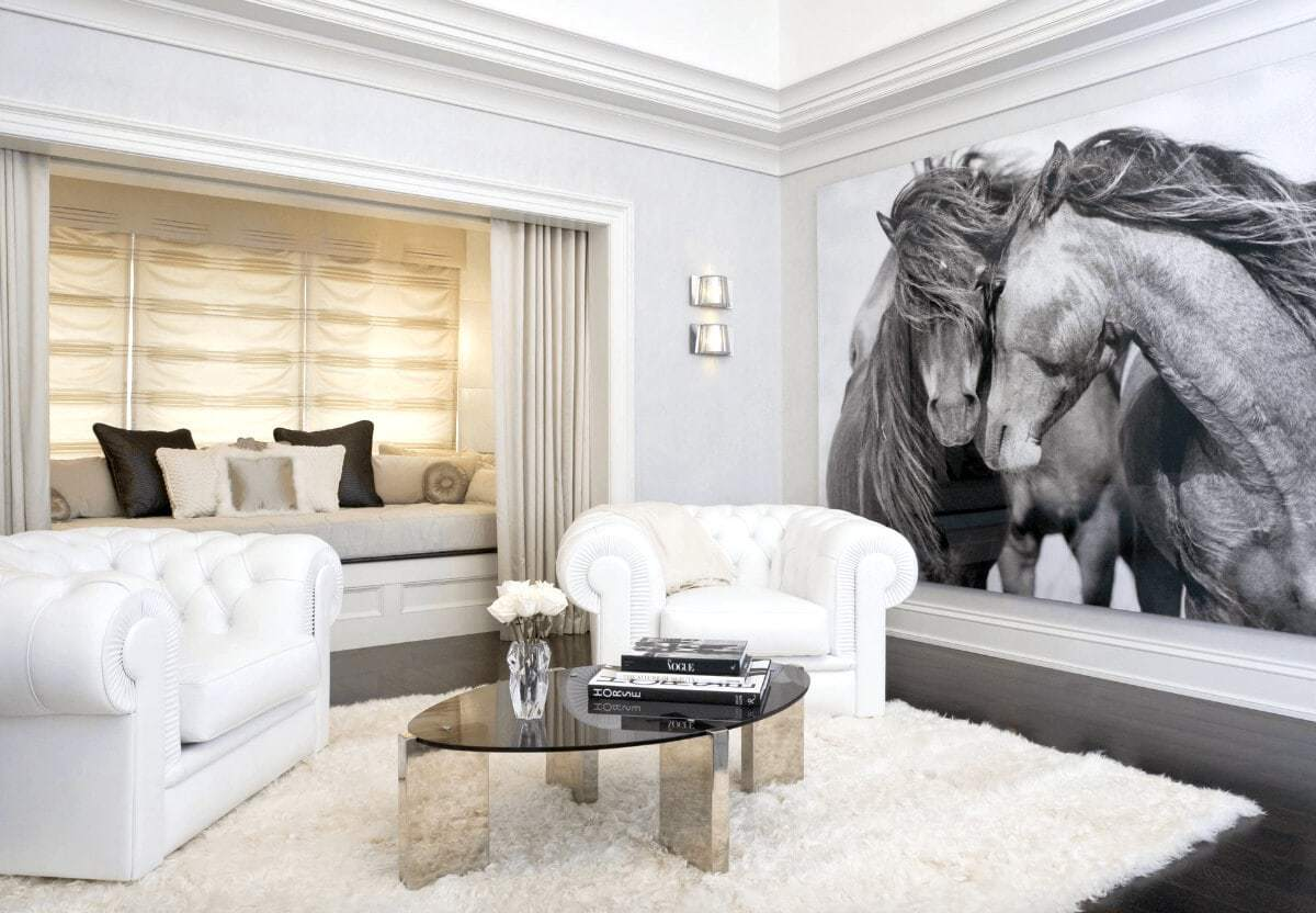 white wall decorations living room used set 11 striking feature ideas that aren t paint largescale horse artwork in