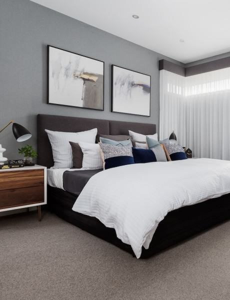 grey and white contemporary bedroom How to Easily Achieve the Modernist Interior Design Style