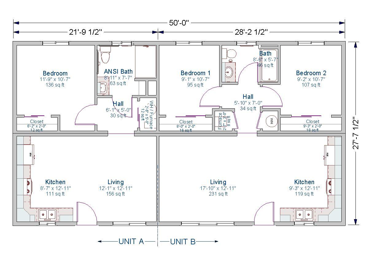 100+ [ Small Duplex Plans ]   Duplex Apartment Plans Interior ...