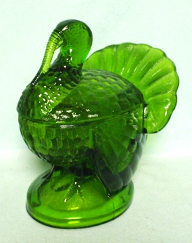 kitchen pottery canisters art prints l.e. smith antique green glass turkey candy dish