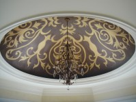 Decorative ceiling mural painting and scenic design wall ...