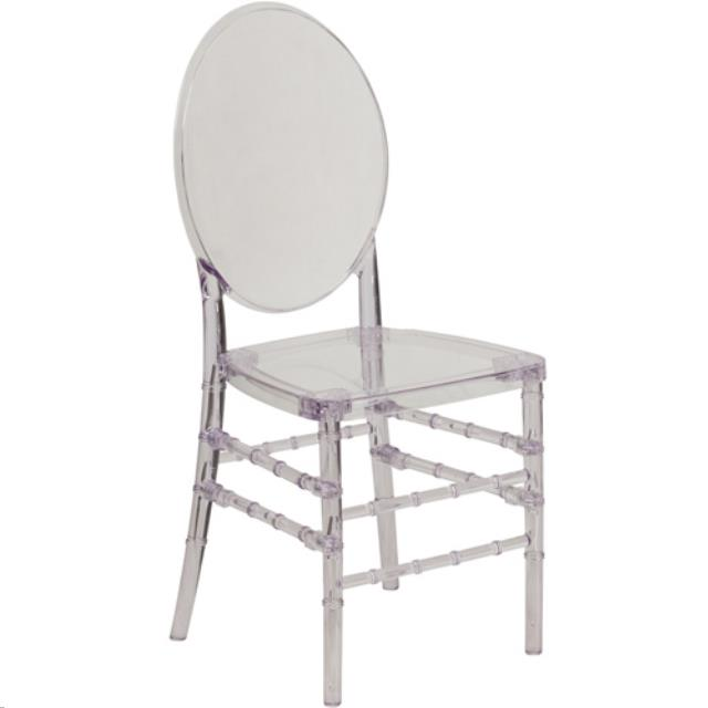 ghost chairs folding back chair clear w round rentals atlanta ga where to find in