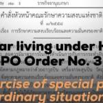 One year living under Head of the NCPO Order No. 3/2015: The exercise of special powers in ordinary situations