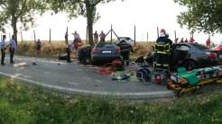 Accident grav între Tulcea și Agighiol. FOTO IPJ Tulcea