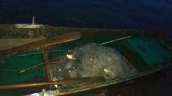 Plasele de pescuit, bărcile și peștele au fost luate de către jandarmi. FOTO IJJ Tulcea