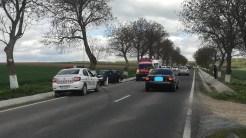 Accident în apropiere de 2 Cantoane. FOTO ISU Delta