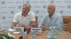 Ministrul Finanțelor, Eugen Teodorovici și președintele Consiliului Județean Tulcea, Horia Teodorescu. FOTO Tlnews.ro