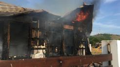 Incendiu pensiune Mahmudia. FOTO ISU Tulcea