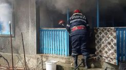 Incendiu în Slava Cercheză izbucnit din cauza unui scurtcircuit electric. FOTO ISU Tulcea