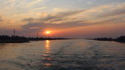 Apus de soare în Delta Dunării. FOTO Paul Alexe