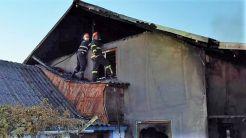 Incendiu la o pensiune din comuna tulceană Jurilovca. FOTO ISU Tulcea